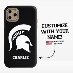 Collegiate Case for iPhone 11 Pro Max – Hybrid Michigan State Spartans - Personalized