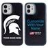 Collegiate Case for iPhone 12 Mini – Hybrid Michigan State Spartans - Personalized