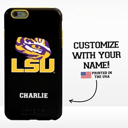 Collegiate Case for iPhone 6 Plus / 6s Plus – Hybrid LSU Tigers - Personalized