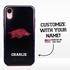 Collegiate Case for iPhone XR – Hybrid Arkansas Razorbacks - Personalized