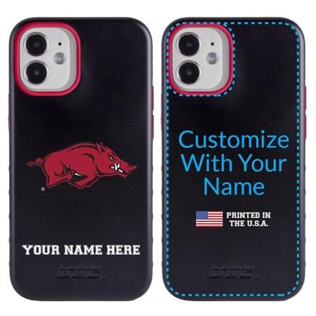 Collegiate Case for iPhone 12 Mini – Hybrid Arkansas Razorbacks - Personalized