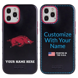 Collegiate Case for iPhone 12 / 12 Pro – Hybrid Arkansas Razorbacks - Personalized
