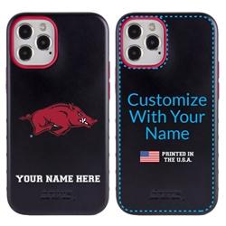Collegiate Case for iPhone 12 Pro Max – Hybrid Arkansas Razorbacks - Personalized