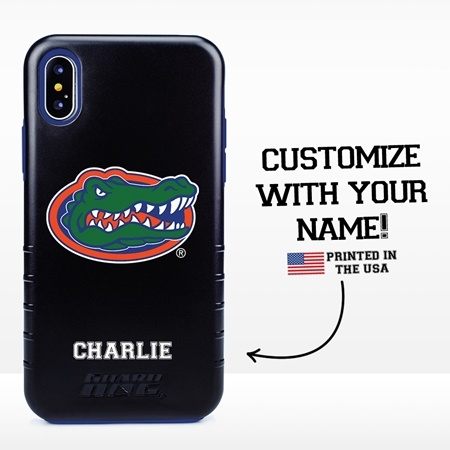 Collegiate Case for iPhone X / XS – Hybrid Florida Gators - Personalized