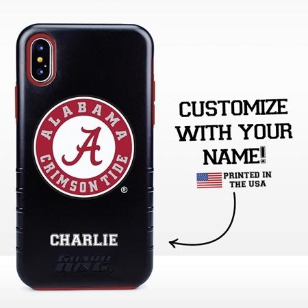 Collegiate Case for iPhone XS Max – Hybrid Alabama Crimson Tide - Personalized