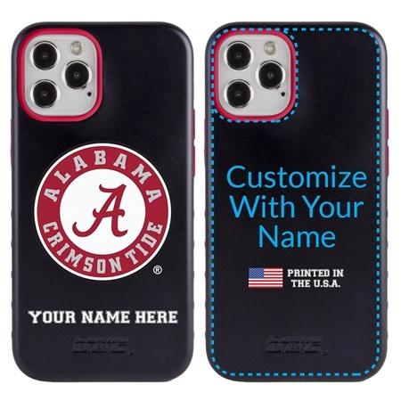 Collegiate Case for iPhone 12 Pro Max – Hybrid Alabama Crimson Tide - Personalized