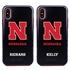 Collegiate Case for iPhone XS Max – Hybrid Nebraska Cornhuskers - Personalized