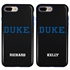 Collegiate Case for iPhone 7 Plus / 8 Plus – Hybrid Duke Blue Devils - Personalized