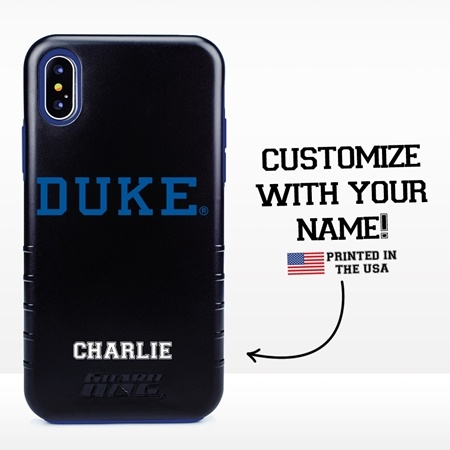Collegiate Case for iPhone X / XS – Hybrid Duke Blue Devils - Personalized