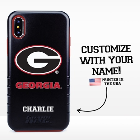 Collegiate Case for iPhone XS Max – Hybrid Georgia Bulldogs - Personalized