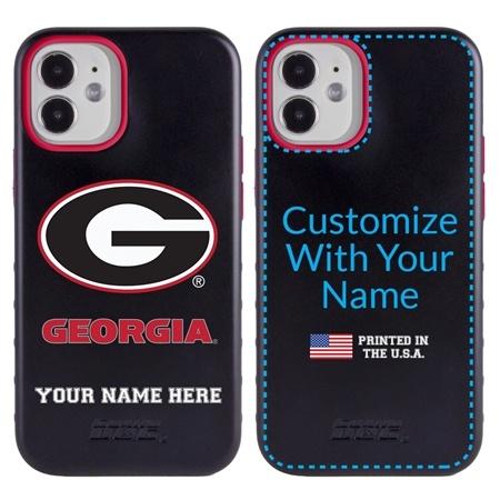 Collegiate Case for iPhone 12 Mini – Hybrid Georgia Bulldogs - Personalized
