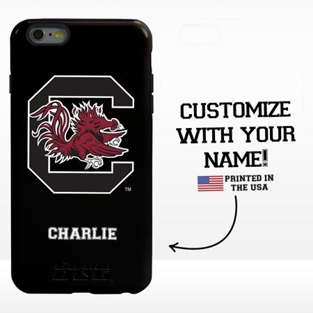 Collegiate Case for iPhone 6 Plus / 6s Plus – Hybrid South Carolina Gamecocks - Personalized
