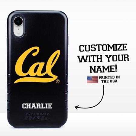 Collegiate Case for iPhone XR – Hybrid Cal Berkeley Golden Bears - Personalized