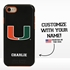 Collegiate Case for iPhone 7 / 8 – Hybrid Miami Hurricanes - Personalized