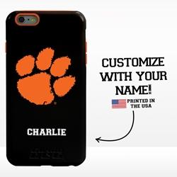 Collegiate Case for iPhone 6 Plus / 6s Plus – Hybrid Clemson Tigers - Personalized
