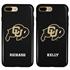 Collegiate Case for iPhone 7 Plus / 8 Plus – Hybrid Colorado Buffaloes - Personalized