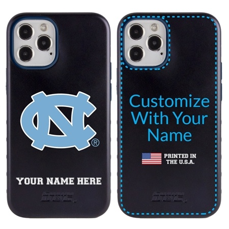Collegiate Case for iPhone 12 / 12 Pro – Hybrid North Carolina Tar Heels - Personalized
