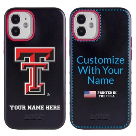 Collegiate Case for iPhone 12 Mini – Hybrid Texas Tech Red Raiders - Personalized