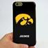 Collegiate Case for iPhone 6 Plus / 6s Plus – Hybrid Iowa Hawkeyes - Personalized