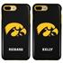 Collegiate Case for iPhone 7 Plus / 8 Plus – Hybrid Iowa Hawkeyes - Personalized