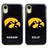 Collegiate Case for iPhone XR – Hybrid Iowa Hawkeyes - Personalized