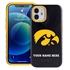 Collegiate Case for iPhone 12 Mini – Hybrid Iowa Hawkeyes - Personalized