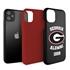 Collegiate Alumni Case for iPhone 11 – Hybrid Georgia Bulldogs - Personalized
