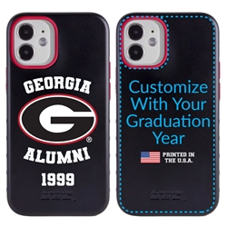 Collegiate Alumni Case for iPhone 12 Mini – Hybrid Georgia Bulldogs - Personalized