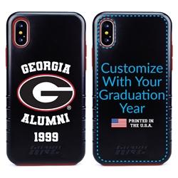 Collegiate Alumni Case for iPhone X / XS – Hybrid Georgia Bulldogs - Personalized