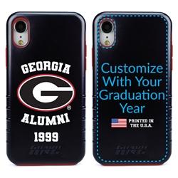 Collegiate Alumni Case for iPhone XR – Hybrid Georgia Bulldogs - Personalized