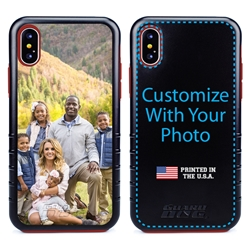 Custom Photo Case for iPhone X/Xs - Hybrid (Black Case)