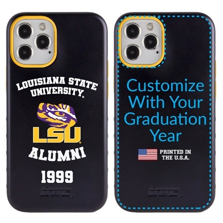 Collegiate Alumni Case for iPhone 12 / 12 Pro – Hybrid LSU Tigers