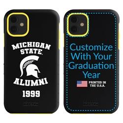 Collegiate Alumni Case for iPhone 11 – Hybrid Michigan State Spartans