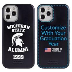 Collegiate Alumni Case for iPhone 12 Pro Max – Hybrid Michigan State Spartans