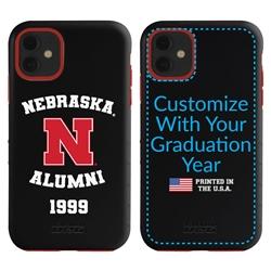 Collegiate Alumni Case for iPhone 11 – Hybrid Nebraska Cornhuskers