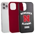 Collegiate Alumni Case for iPhone 12 Pro Max – Hybrid Nebraska Cornhuskers