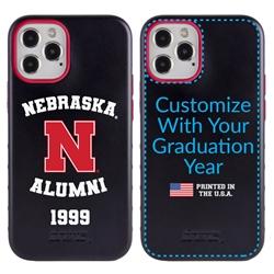 Collegiate Alumni Case for iPhone 12 / 12 Pro – Hybrid Nebraska Cornhuskers