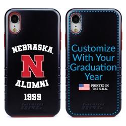 Collegiate Alumni Case for iPhone XR – Hybrid Nebraska Cornhuskers