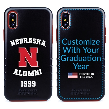 Collegiate Alumni Case for iPhone XS Max – Hybrid Nebraska Cornhuskers