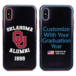 Collegiate Alumni Case for iPhone XS Max – Hybrid Oklahoma Sooners