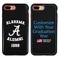 Collegiate Alumni Case for iPhone 7 Plus / 8 Plus – Hybrid Alabama Crimson Tide