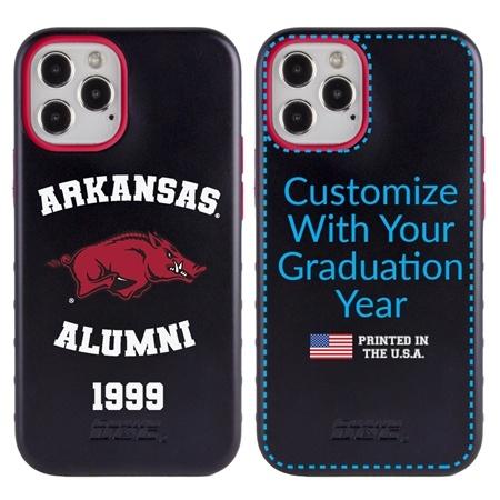 Collegiate Alumni Case for iPhone 12 / 12 Pro – Hybrid Arkansas Razorbacks