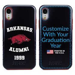 Collegiate Alumni Case for iPhone XR – Hybrid Arkansas Razorbacks