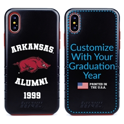 Collegiate Alumni Case for iPhone XS Max – Hybrid Arkansas Razorbacks