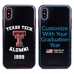 Collegiate Alumni Case for iPhone X / XS – Hybrid Texas Tech Red Raiders