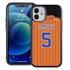 Personalized Pinstripe Baseball Jersey Case for iPhone 12 Mini – Hybrid – (Black Case)