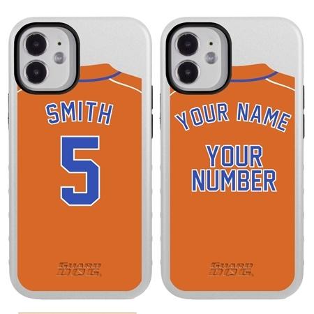 Personalized Baseball Jersey Case for iPhone 12 Mini – Hybrid – (White Case)