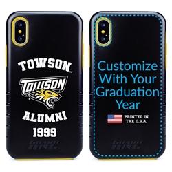 Collegiate Alumni Case for iPhone XS Max – Hybrid Towson Tigers