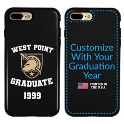 Collegiate Alumni Case for iPhone 7 Plus / 8 Plus – Hybrid West Point Black Knights