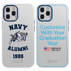 Collegiate Alumni Case for iPhone 11 – Hybrid Navy Midshipmen